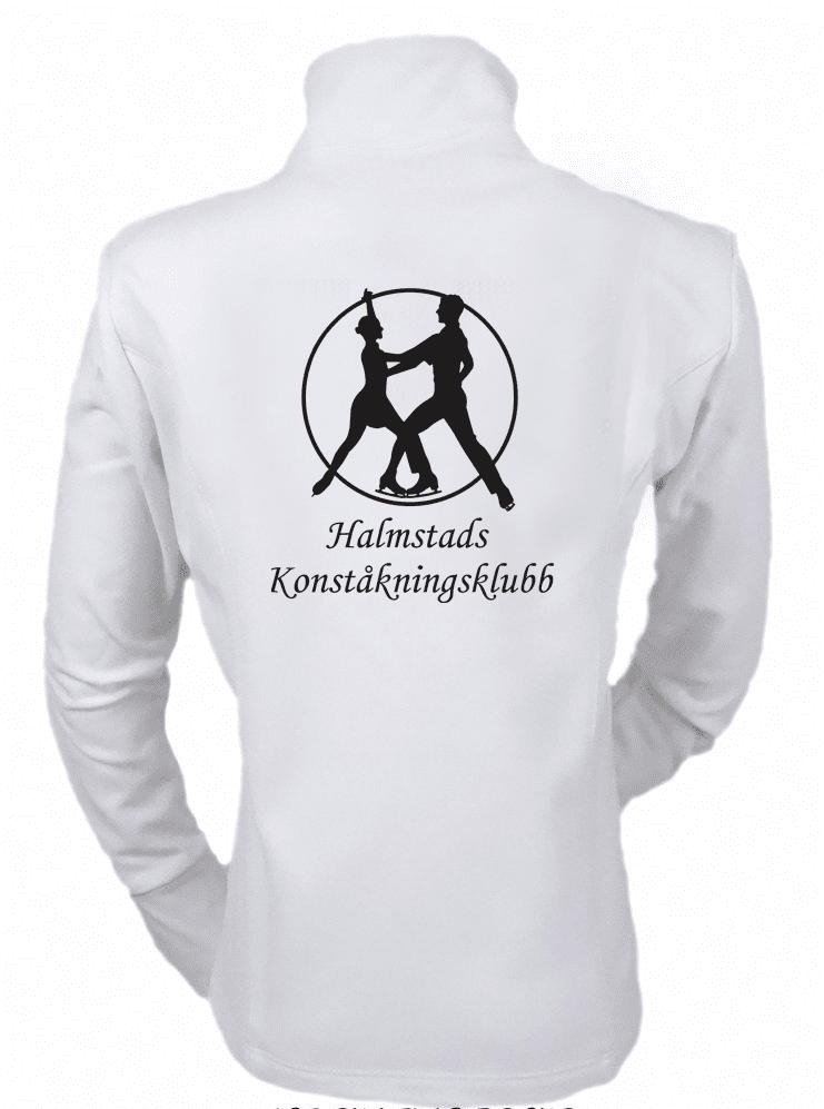 Klubbkofta vit Halmstad Konståkningsklubb